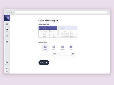 Detail Report Landing Page data visualization visual design ux design product design