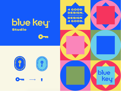 Blue Key Color Exploration custom lettering typogaphy identity branding logo