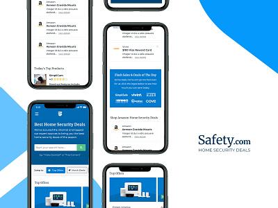 Home Security Deals - Safety.com security slider mobile website site