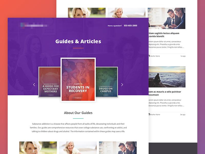Guides Directory slider carousel blog site website landing page
