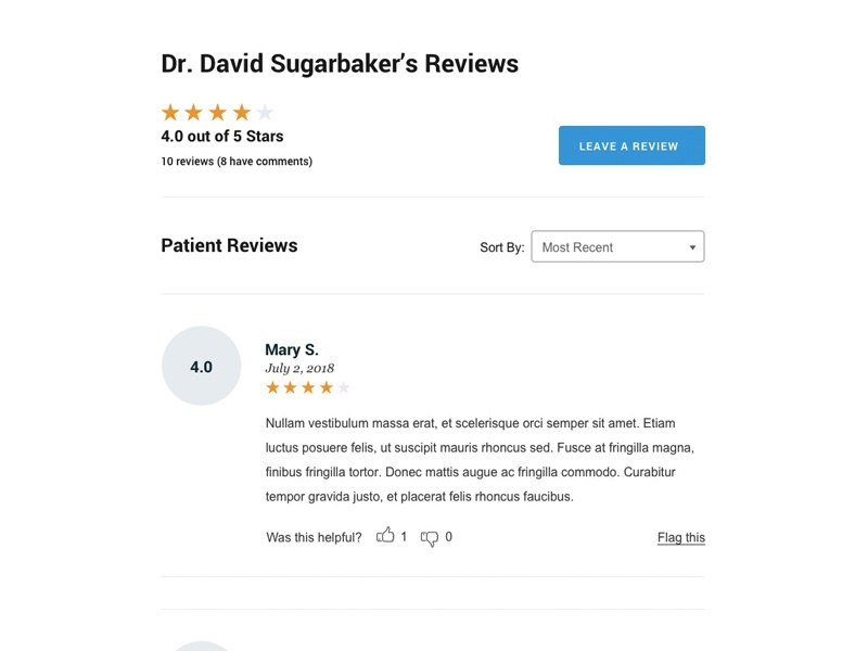 Doctor Reviews ratings website site reviews