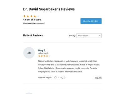 Doctor Reviews ratings website site reviews