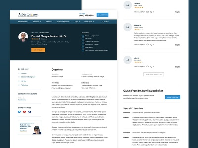 Doctor Template profile bio qa frequently asked questions faq ratings website site reviews
