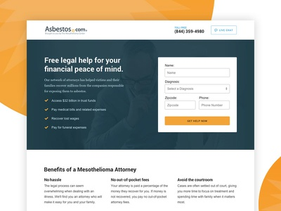 Find An Attorney Landing Page attorney legal form site website landing page