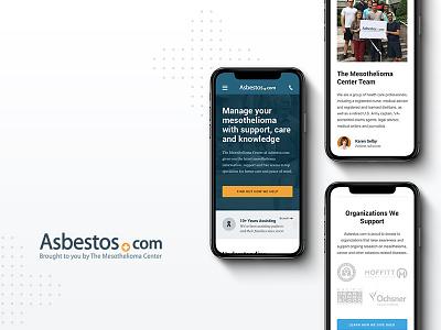 Asbestos Home Page - Mobile orange blue web medical mobile website site