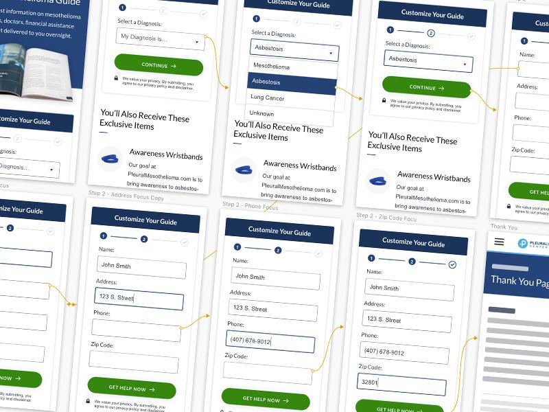 Pleural Mobile Step Form prototype step form form website site mobile