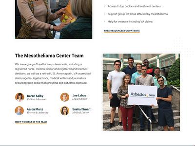 Asbestos Home Page - Desktop medical homepage website site