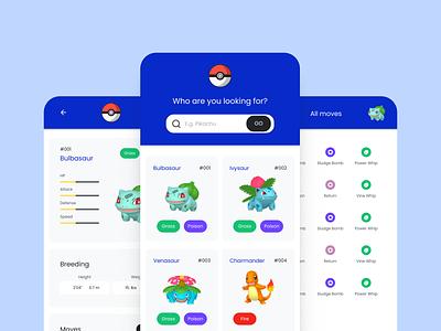 Pokémon App - User Interface app design ux ui
