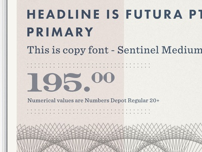Typographic and Elemental planning.... product currency texture element sans serif sentinel futura typography