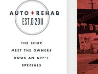 Auto Rehab's main navigation