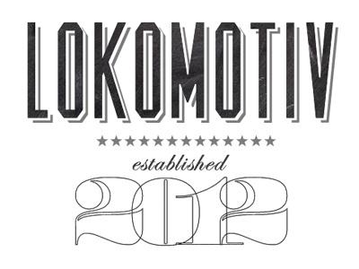 Lokomotiv  design logo typography numbers lost type black white