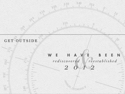 Footer Design / Discovery Church  arizona vintage modernism hipster compass type design layout navigation didot futura logo white transparency website ux flagstaff