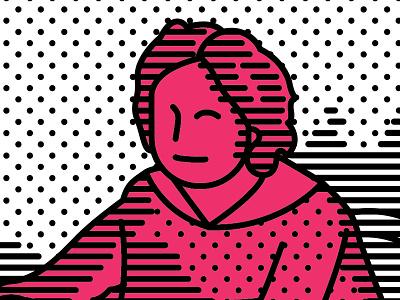 Девочка с персиками lineart art