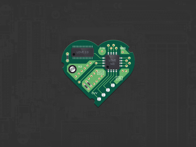 Happy Valentine's Day! electronic love heart