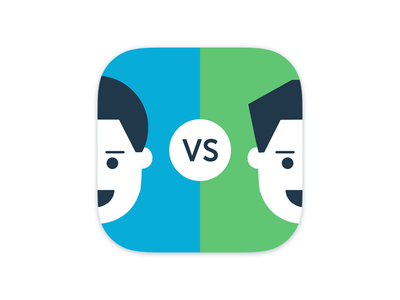 Face OFF game smile fight challenge face ux ui ios icon app