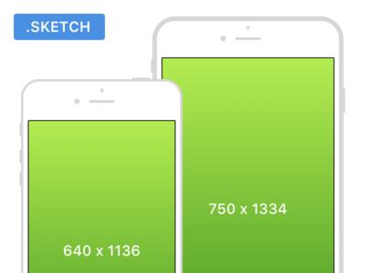 iPhone Mockup display sketch free 5s 6s iphone mockup
