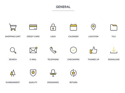 Icon Set line icon ios yellow. line set happy icon