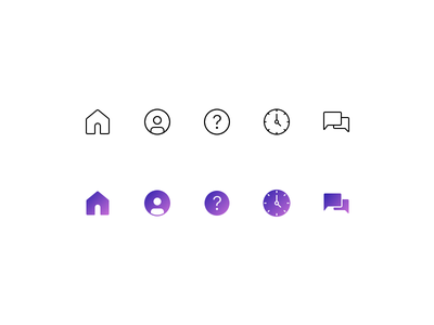 Tab Bar Icons profile iconography app mobile material tabbar messenger chat icon application ui ux