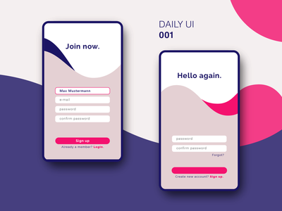 Daily UI #001 app user interface challenge daily ui challenge daily ui 001 daily ui ui design