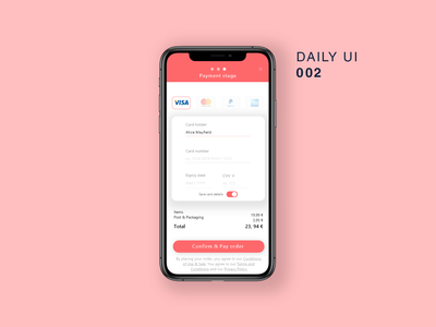 Daily UI 002 100days app ui design mobile daily ui challenge interface daily ui