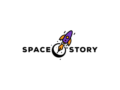 Space Story symbol branding graphic icon story design logo space