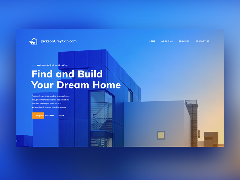 Web design UI for real estate company graphic blue design ui web estate real property