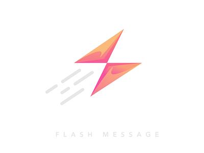 Flashmessage Dribbble best fast modern flash icon message brand logo