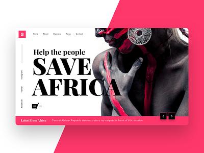 Website UI Concept banner modern africa design web