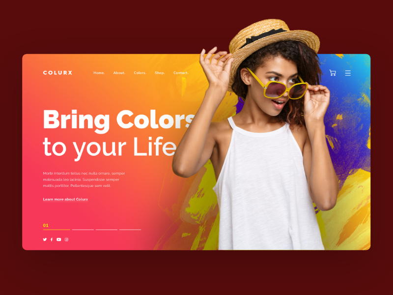 Colurx Banner Concept header beautiful red concept graphic design banner web
