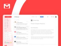 Gmail UI Concept Design