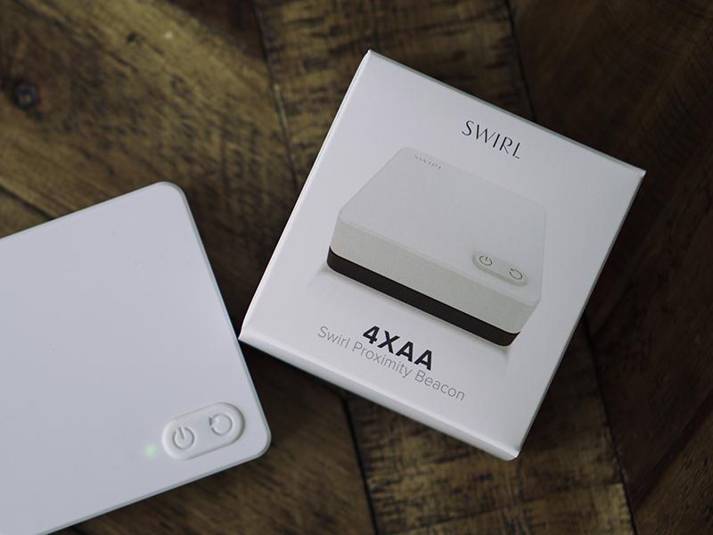 Swirl Beacon Packaging product proximity beacons beacon packaging
