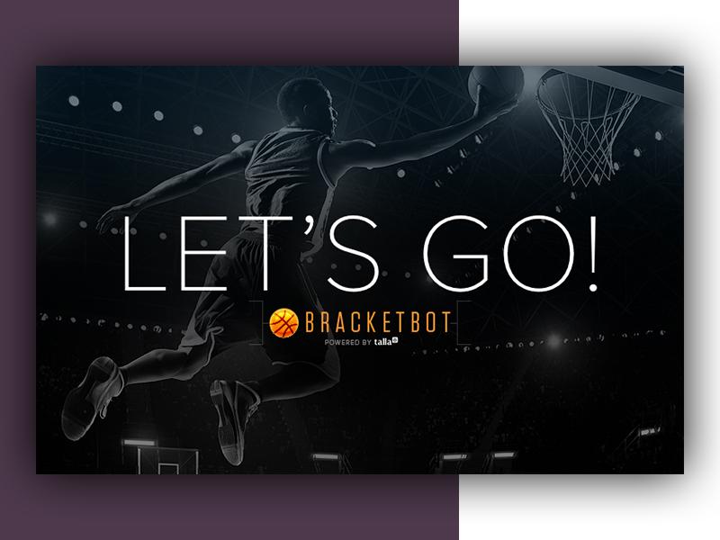 BracketBot Social/Slack Imagery dark basketball bot chat marketing social slack