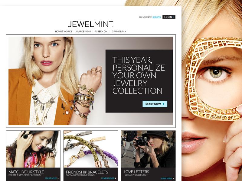 JewelMint Website website ecommerce ecomm jewelry fashion