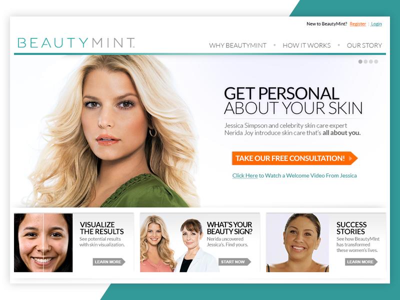 BeautyMint Website website cosmetics beauty ecommerce ecomm skincare
