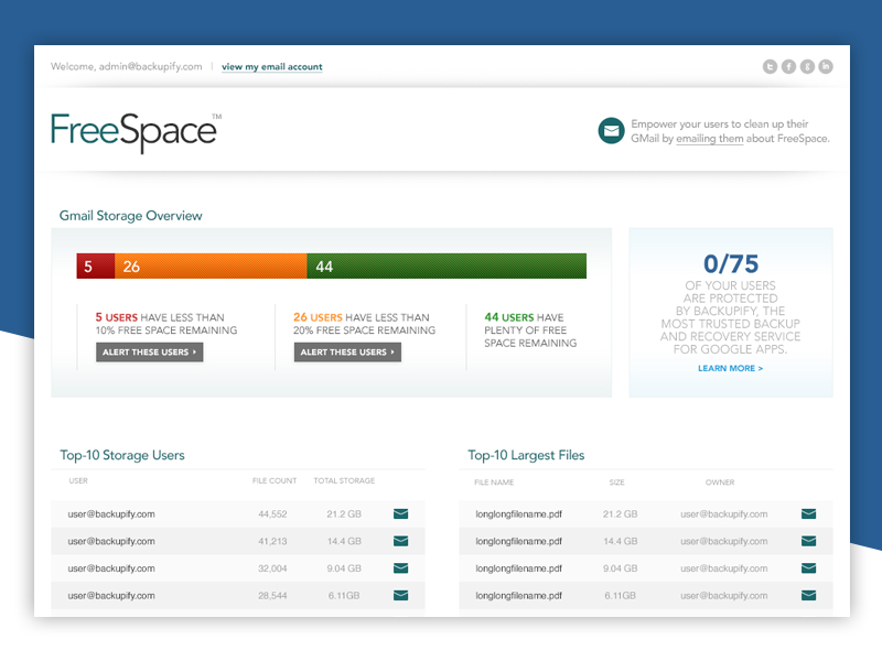 FreeSpace App ux ui web tool app google website application saas