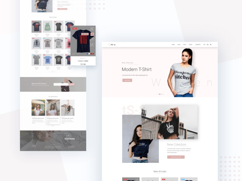 T-shirt Woo-commerce theme by ThemeRox | Dribbble | Dribbble