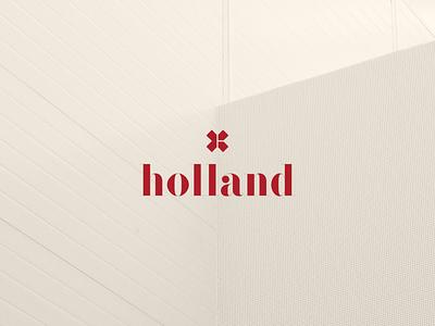Holland Rebrand | Interior Design Firm Brand Identity serif font interior design branding bold color palette bold logo bold brand identity brandmark pattern design colour palette logo identity logo branding design branding design