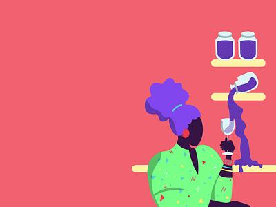 Play Big & Jam: A business-focused jam for ladies. illustration colour palette branding design branding design
