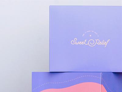 Sweet Relief Rebrand pattern pattern design packaging colour palette logo identity logo branding design branding design