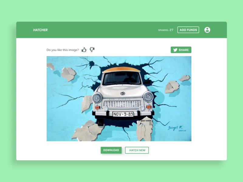 Hatcher | Dashboard hatcher account green feedback search ai website ui dashboard
