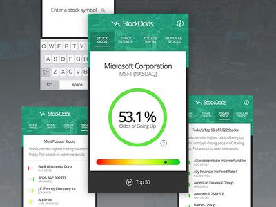 Stockodds App Design