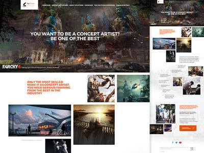 Concept Art School Homepage Design