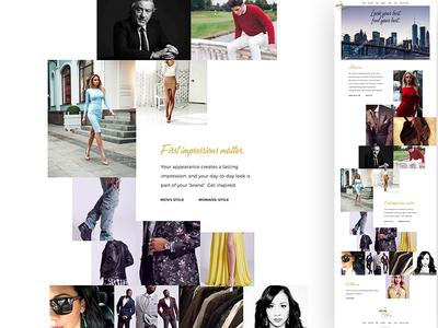 Personal Stylist Web Layout