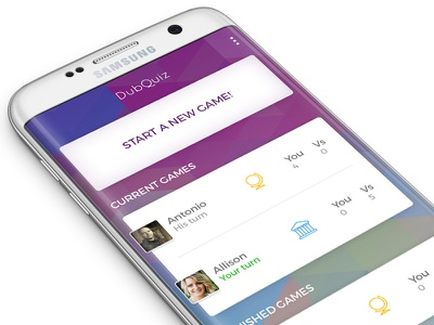 Social Trivia Game game interface colorful ui