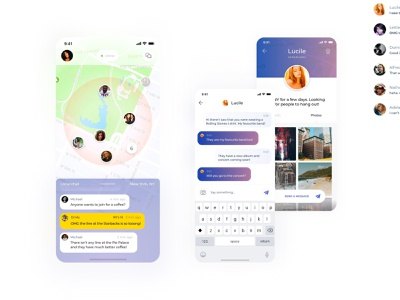 Local Chat App localization chat social map light ios interface ui app