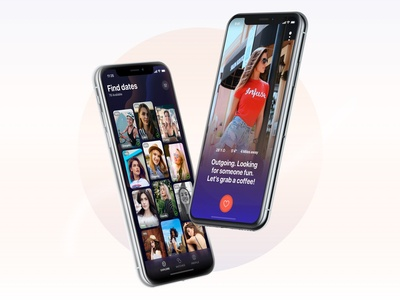 Dating app - Dark mode