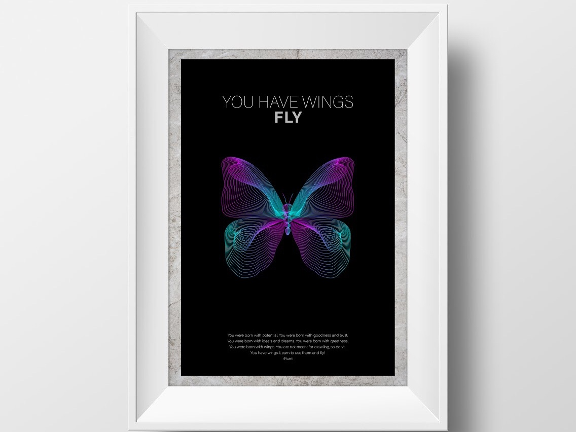 Poster Design photoshop vector corporate branding poster poster challenge poster a day rumi book art fly butterfly book design logo typography graphic  design graphic art illustrator cc branding adobe poster art