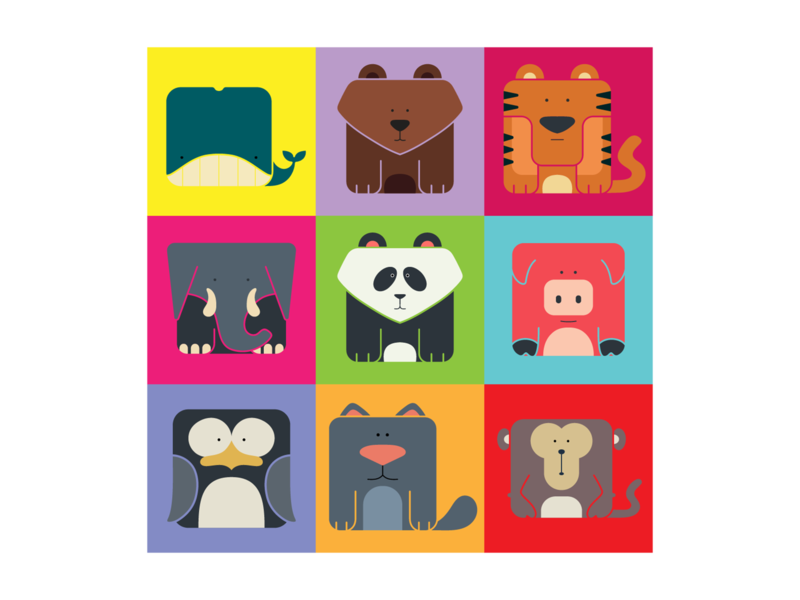 DailyUI 088 - Avatar monkey tiger elephant panda avatar icons avatars avatar design animal illustration animals animal art avatar design illustration interaction design ux design daily 100 challenge mobile app dailyuichallenge uxui dailyui