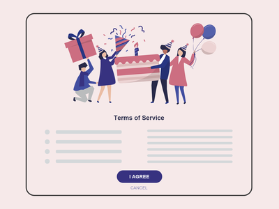 DailyUI 089 - Terms of Service illustration terms and conditions terms of service 089 ui design uxdesign interaction design mobile ui ux design daily 100 challenge mobile app dailyuichallenge uxui dailyui