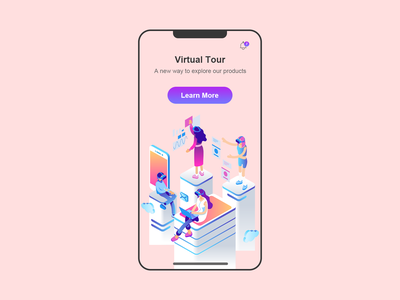 DailyUI 095 - Product Tour introduction virtual tour virtual ai product design learn more product page product tour product 095 illustration ui design interaction design mobile ui ux design mobile app daily 100 challenge dailyuichallenge uxui dailyui